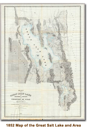 1852 Stansbury Map of the Great Salt Lake