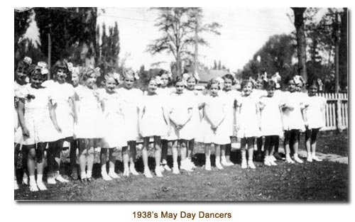 Mendon May Day Dancers for 1938.