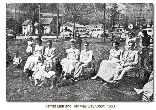 Harriet Muir and her 1953 Mendon May Day Court