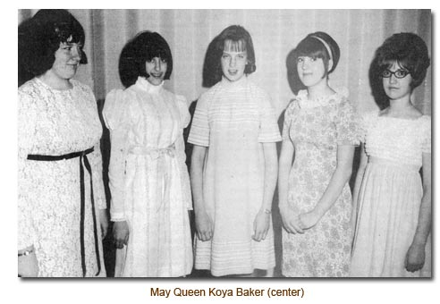 Mendon's Queen on the May for 1969, Koya Baker