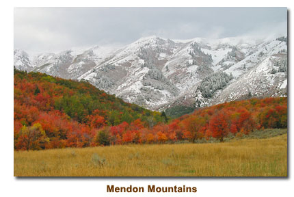 Snow Covered Mendon Mountains