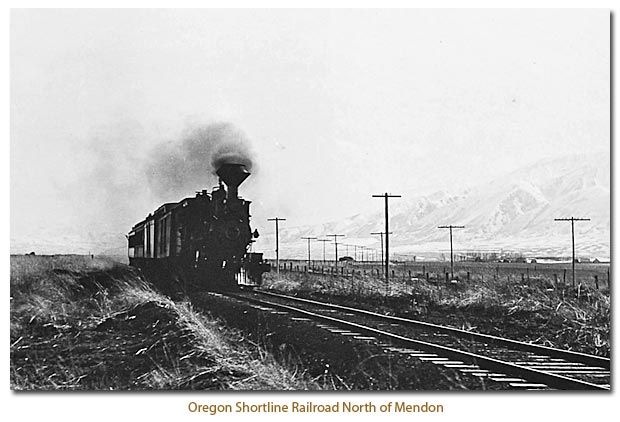 Oregon Shortline Railroad North of Mendon